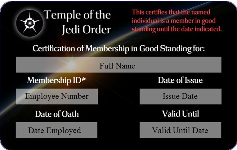 Jedi ordained minister